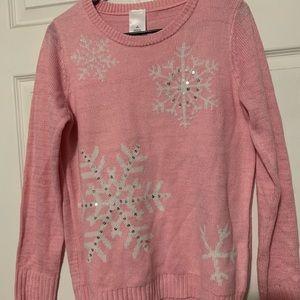 Pink Snowflake Sweater